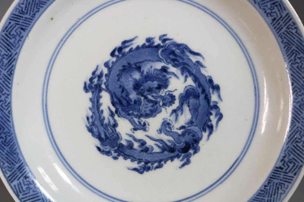A Japanese Blue and White Dish Arita 1680-1710 1