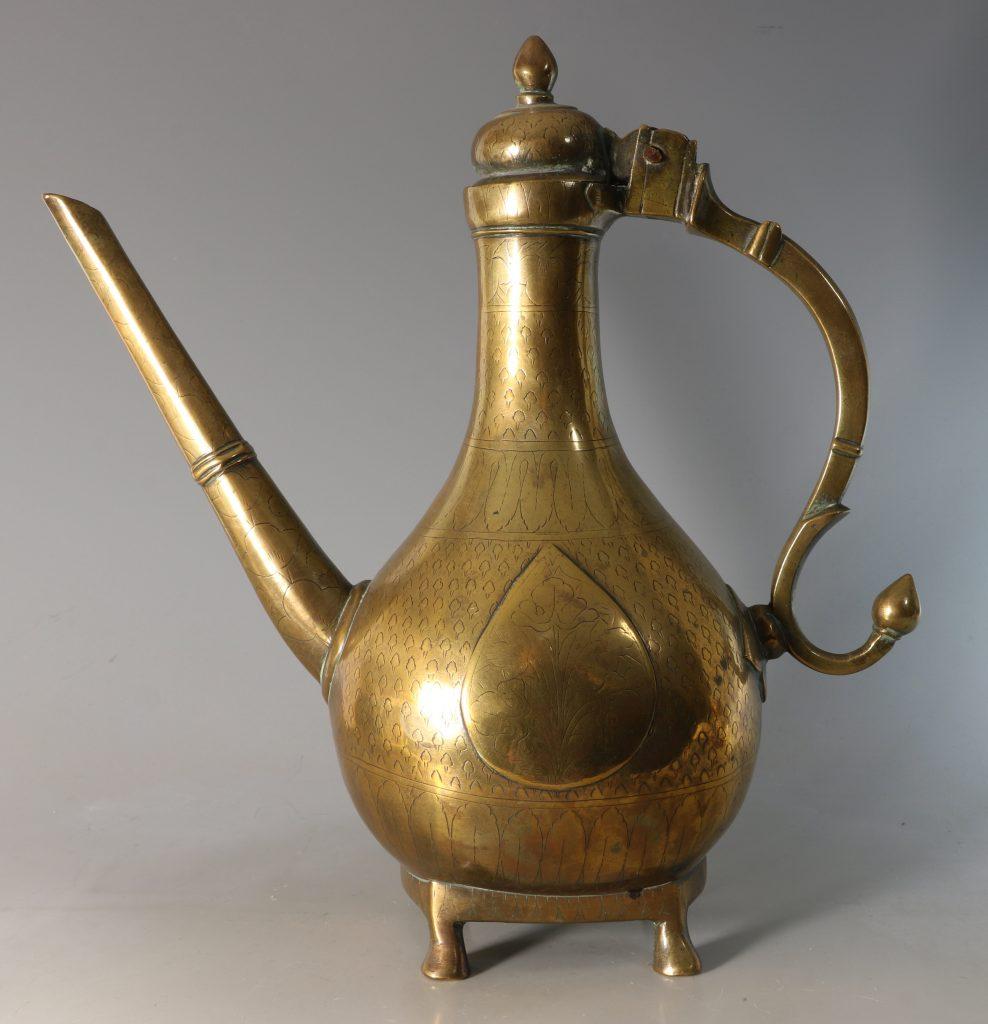 An North Indian Mughal Brass Ewer 18thC 2