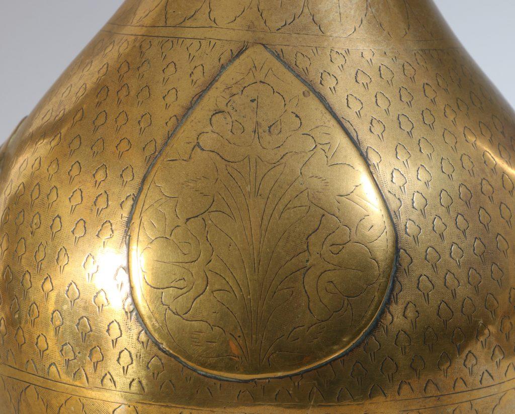 An North Indian Mughal Brass Ewer 18thC 5