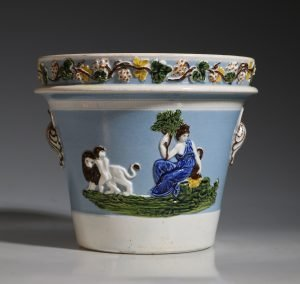Prattware Flower Pot C1800