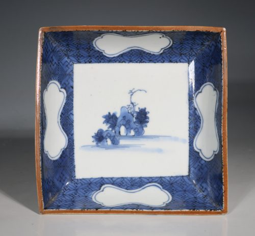 A Japanese Arita Square Dish 17thC