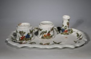 A Nove, Antonibon Faience Desk Set L18thC