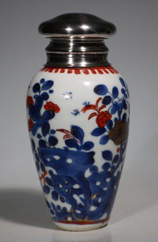 A Silver Mounted Kangxi Imari Vase