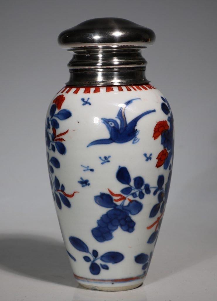 A Silver Mounted Kangxi Imari Vase 3