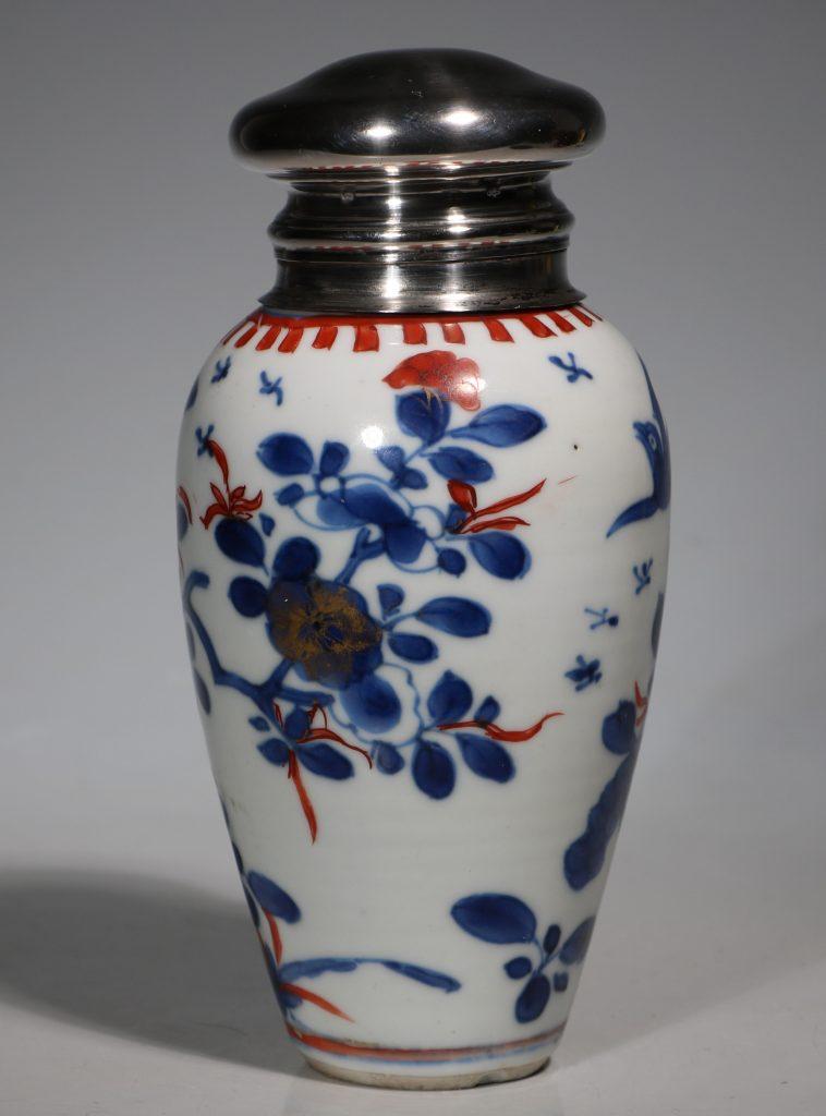 A Silver Mounted Kangxi Imari Vase 4