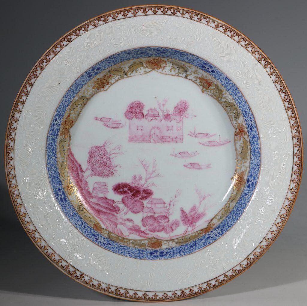 A Rare Folly Fort Deep Plate Qianlong c1735/50