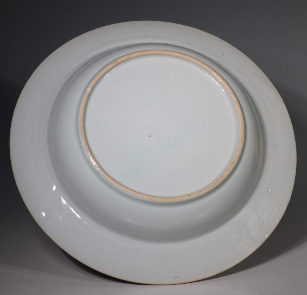 A Rare Folly Fort Deep Plate Qianlong c1735/50 4