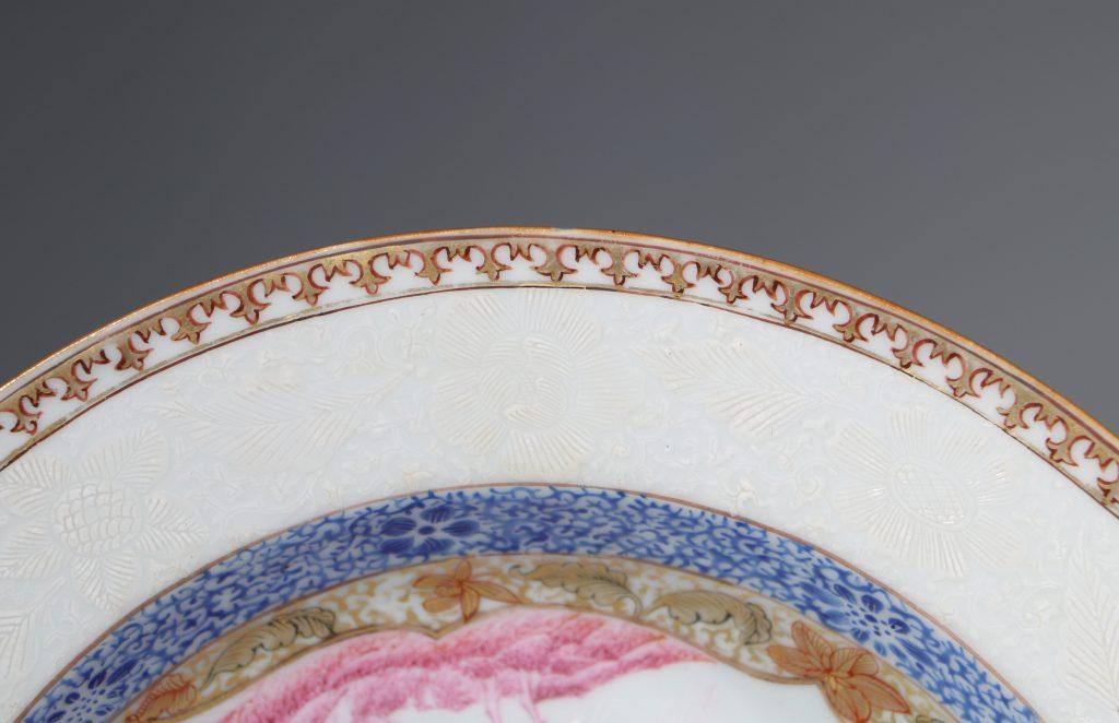 A Rare Folly Fort Deep Plate Qianlong c1735/50 5