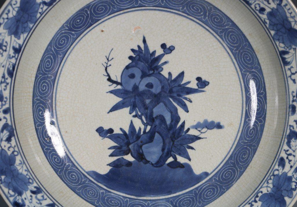 An Arita Blue and White Dish L17thC 1