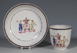 An Export Cup and Saucer with the Arms of the State of New York C1795
