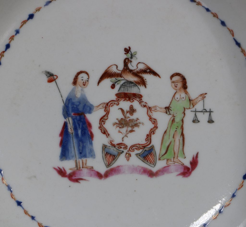 An Export Cup and Saucer with the Arms of the State of New York C1795 2