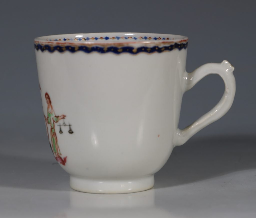 An Export Cup and Saucer with the Arms of the State of New York C1795 4