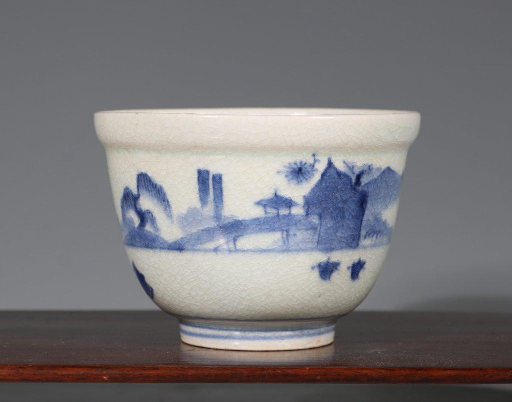 An Arita Blue and White Deep Cup L17thC 1