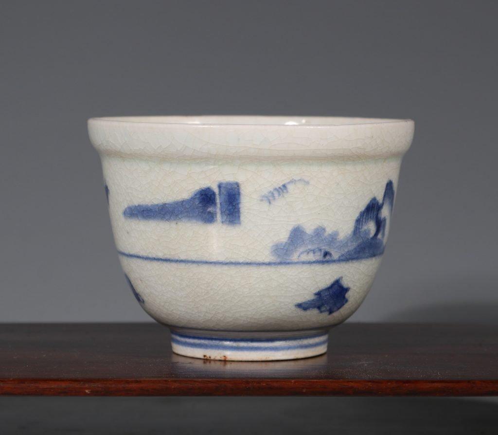 An Arita Blue and White Deep Cup L17thC 4