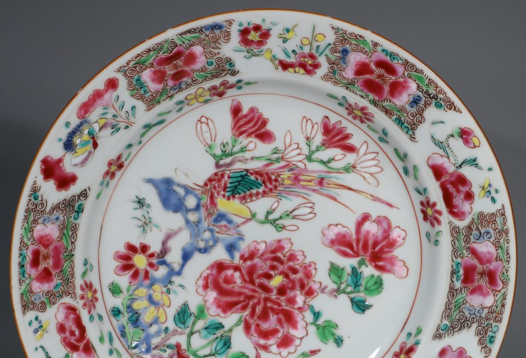 A Pair of Famille Rose Plates C1730-40 6