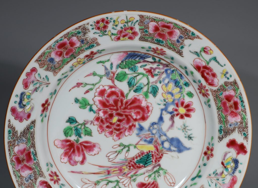 A Pair of Famille Rose Plates C1730-40 7