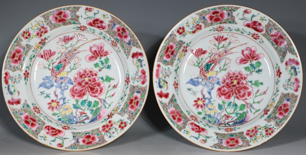 A Pair of Famille Rose Plates C1730-40 1