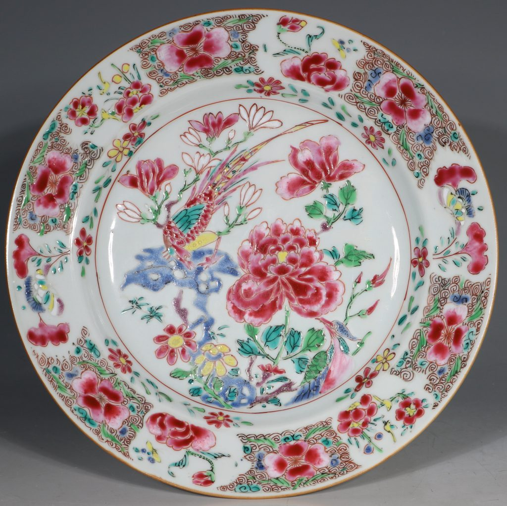 A Pair of Famille Rose Plates C1730-40 2