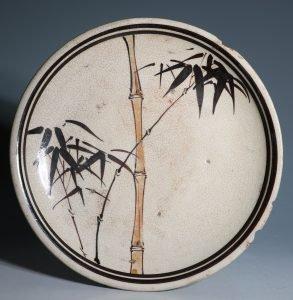 A Japanese Seto Oil Plate Abura Zara 19thC
