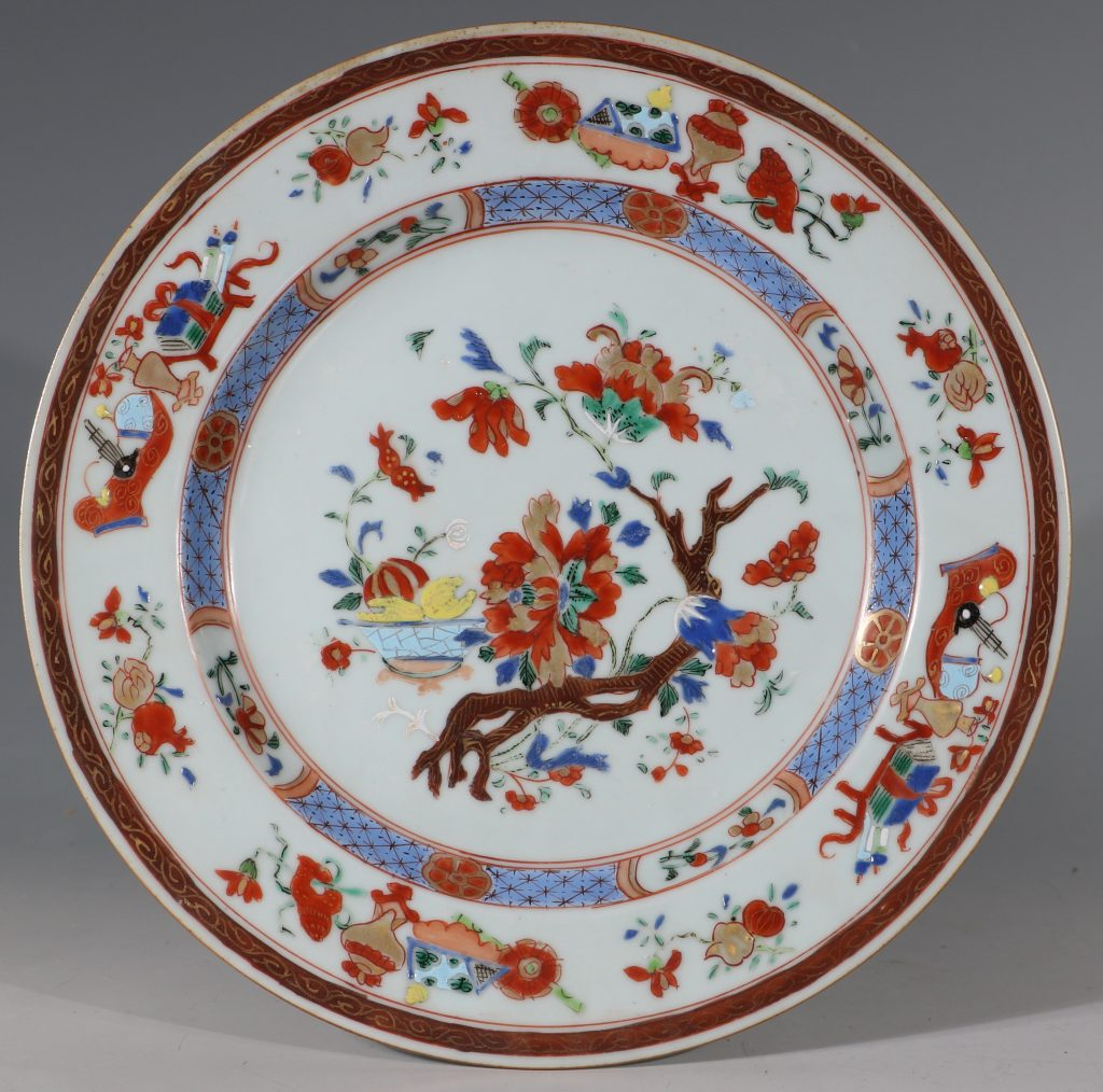 A Pair of Famille Rose Plates C1730/40 1