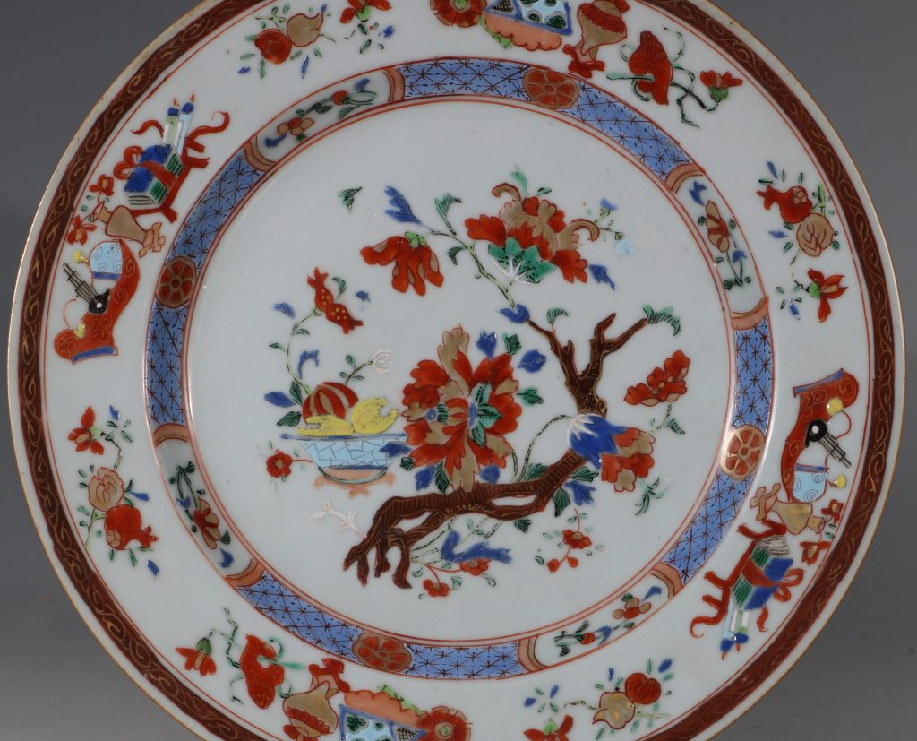 A Pair of Famille Rose Plates C1730/40 2