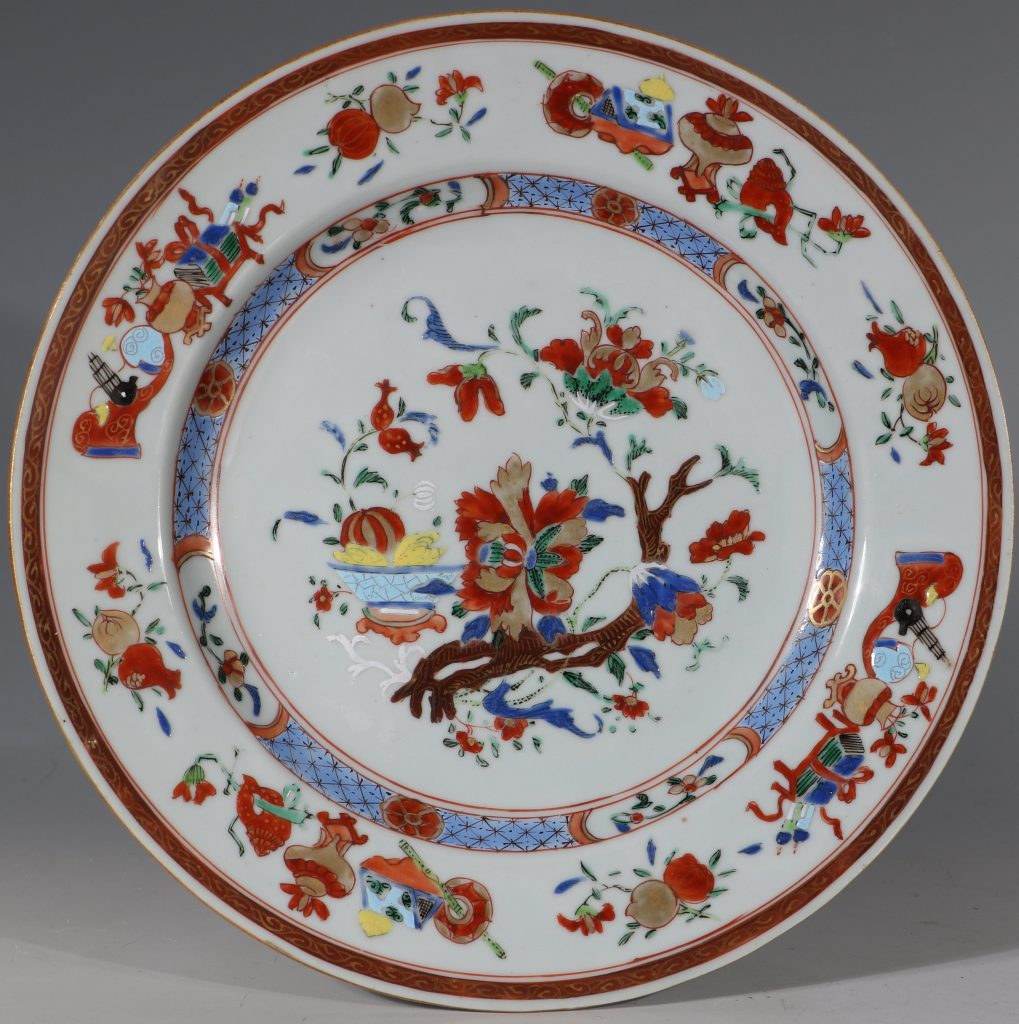 A Pair of Famille Rose Plates C1730/40 3