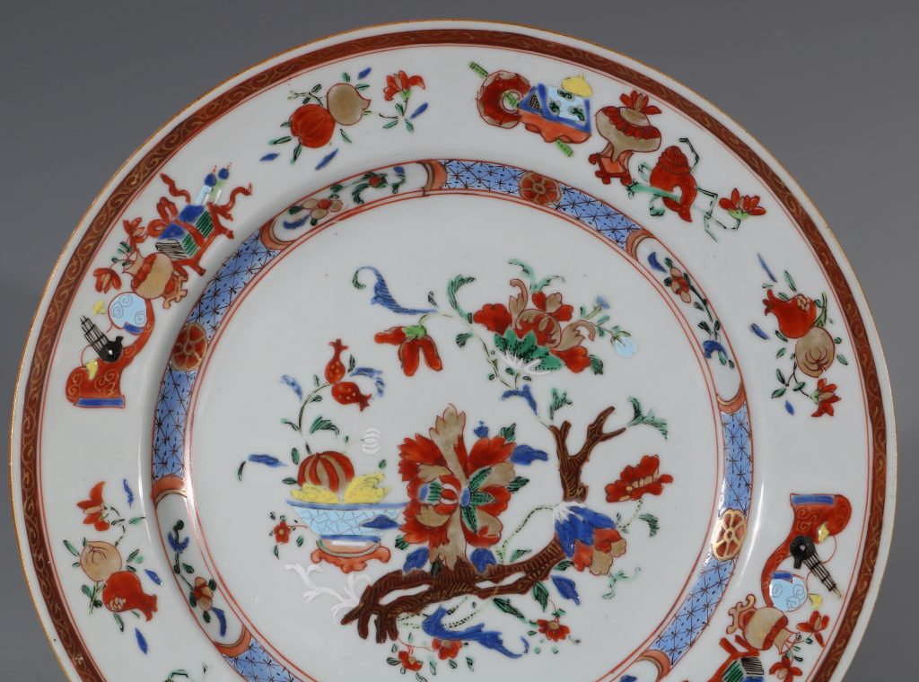A Pair of Famille Rose Plates C1730/40 4