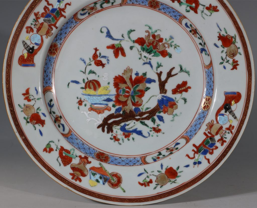 A Pair of Famille Rose Plates C1730/40 5