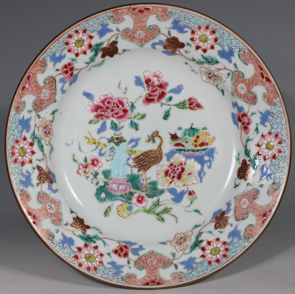A Famille Rose Plate Early Qianlong 1735/45