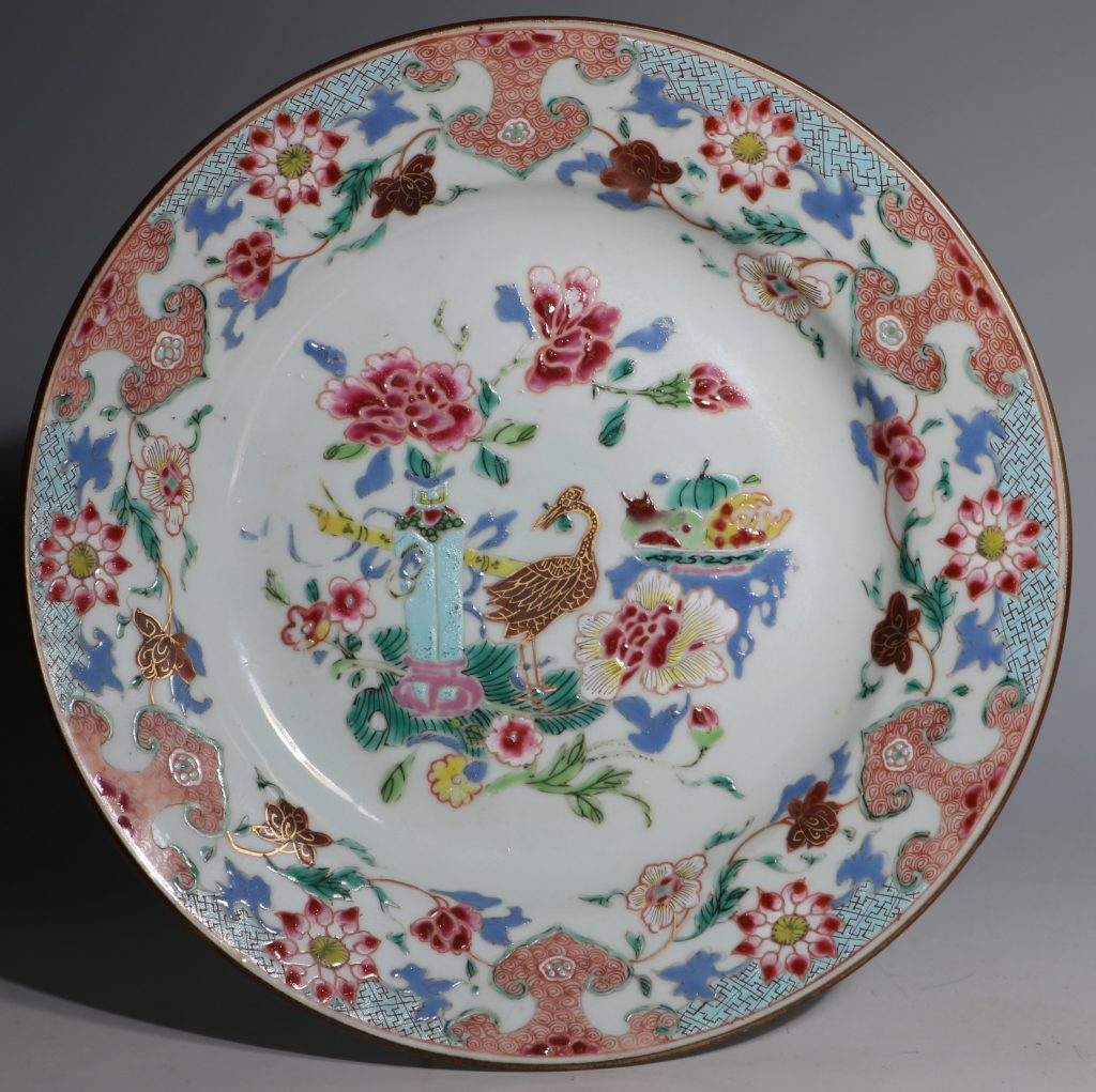 A Famille Rose Plate Early Qianlong 1735/45 1