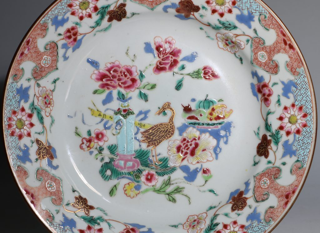 A Famille Rose Plate Early Qianlong 1735/45 2
