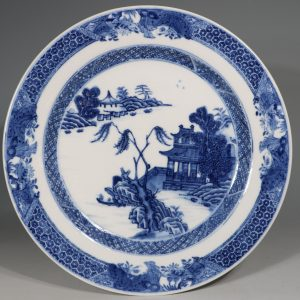 A Finely Decorated Blue and White Plate Qianlong 1736-95