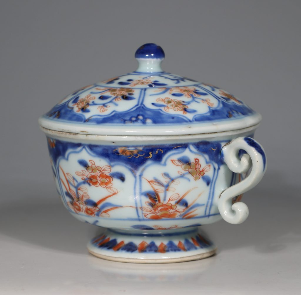A Chinese Imari Ecuelle 18thC 1