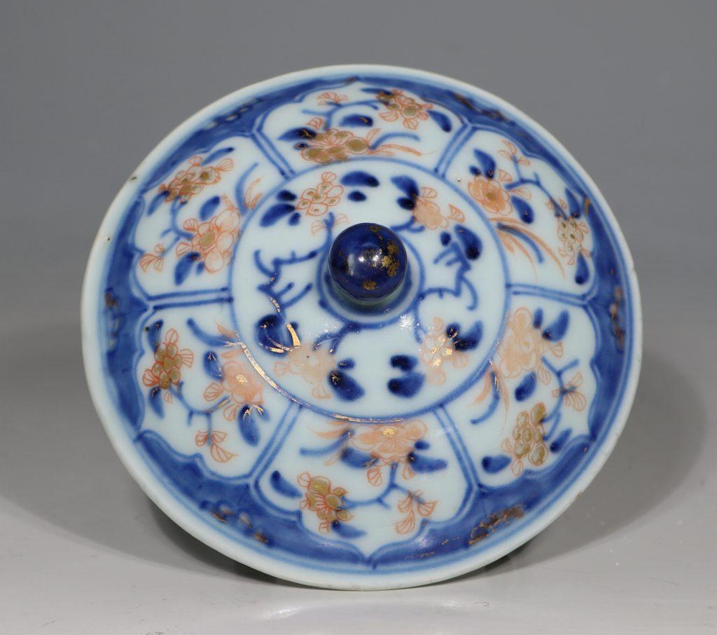 A Chinese Imari Ecuelle 18thC 5