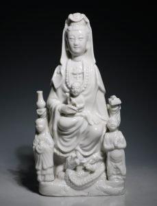 A Blanc de Chine Group of Guanyin Kangxi L17thC