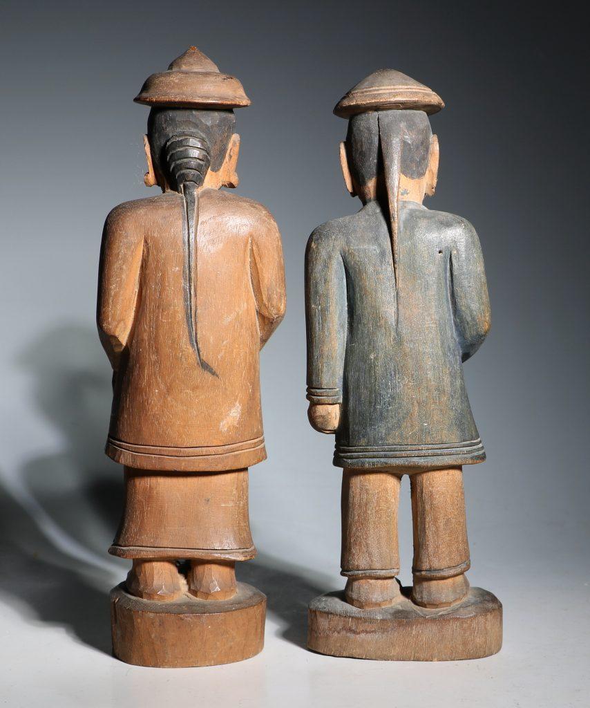 A Group of Burmese Wood Figures 19thC 6