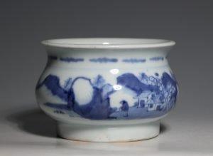 A Blue and White Censer Dehua Kilns 17/18thC