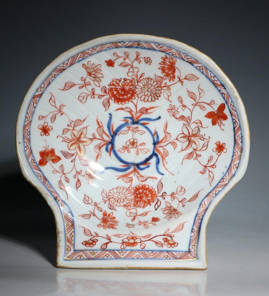 A Chinese Imari Shell Shaped Dish Kangxi C1720 1