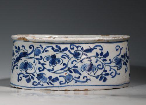 A Rare English Delft Potted Meat Dish E18thC