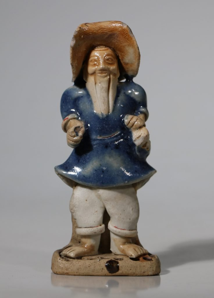 A Glazed Figure of a Standing Man 18thC