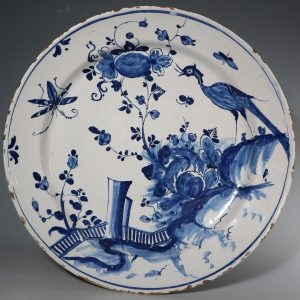 An English Delft Charger C1730/40