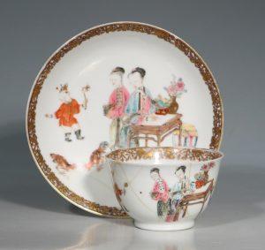 A Famille Rose Tea Bowl and Saucer Yongzheng 1723/36