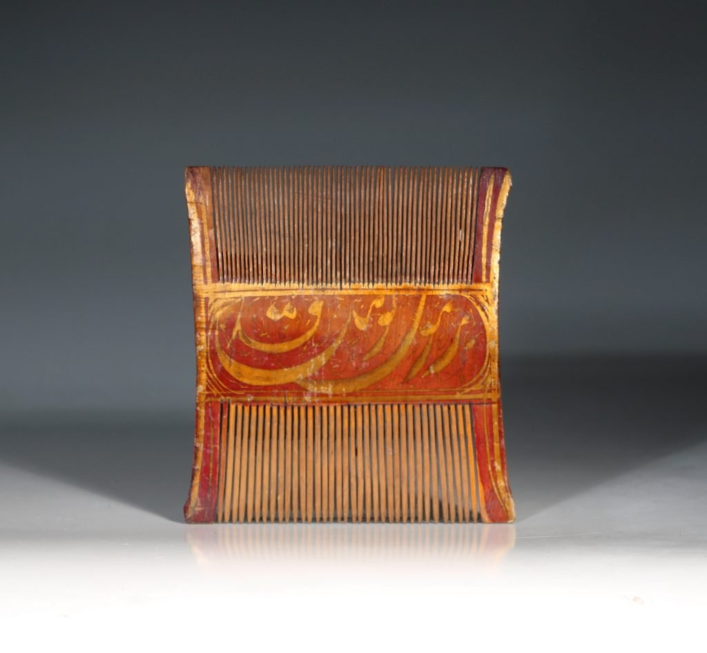 A Qajar Lacquered Comb