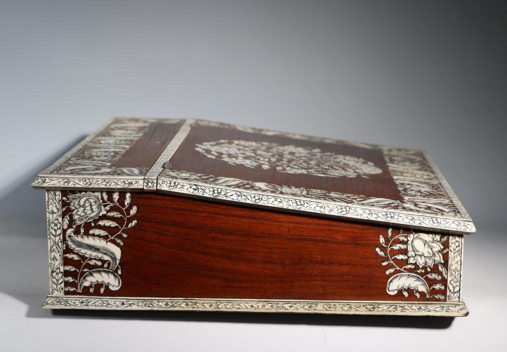 An Anglo Indian Vizagatapam Writing Slope 18thC 6
