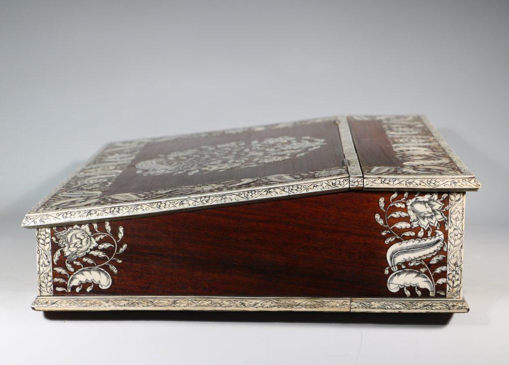 An Anglo Indian Vizagatapam Writing Slope 18thC 8