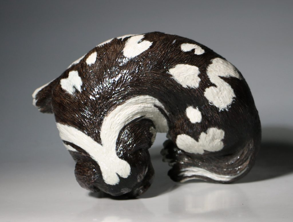 A Very Fine and Rare Chinese Figure of a Lapdog Qianlong 18thC 13