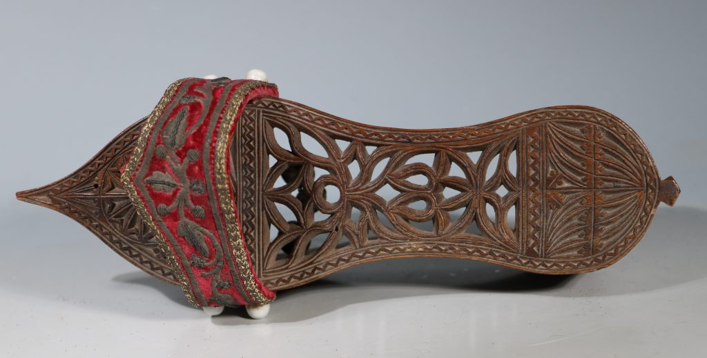 A Pair of Ottoman Carved Wood Sandals 19thC 4