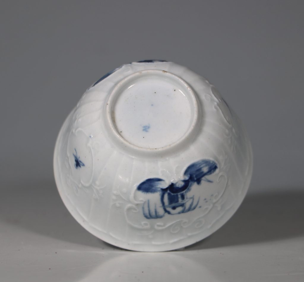 A Worcester Blue and White Teabowl and Saucer C1756 7