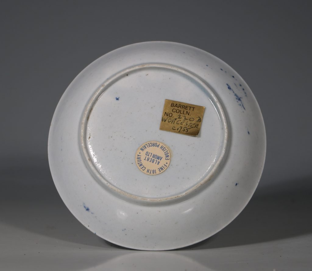 A Worcester Blue and White Teabowl and Saucer C1756 8